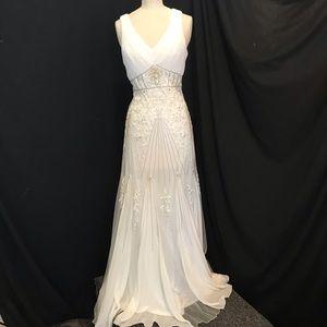 NWT Beautifully Embellished Ivory Sue Wong Dress 6